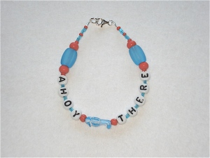 Ahoy There Bracelet blue fish