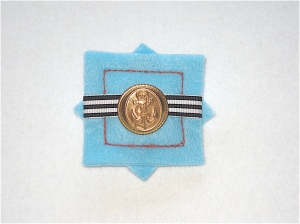 Ahoy There Brooch anchor button