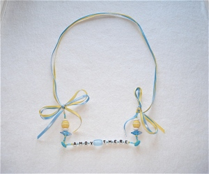 Ahoy There Necklace blue & yellow