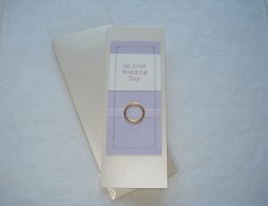 Card Wedding Lilac