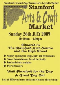 Stamford Arts and Craft Poster July 2009