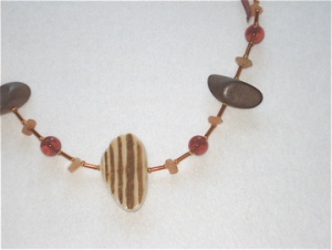 Tribal Ribbons Necklace brown ribbon