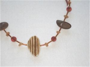Tribal Ribbons Necklace brown ribbon