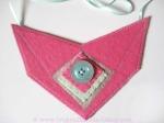 Original Minnie Pink Felt Bib Necklace