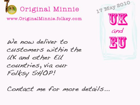 Original Minnie now ships to UK and EU