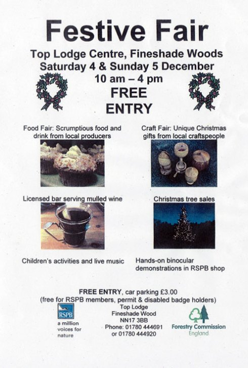 Fineshade Wood Festive Fair 2010 leaflet