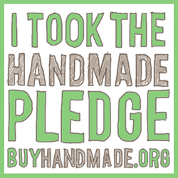 Handmade Pledge Badge from buyhandmade.org