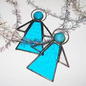 Buy Handmade for Christmas 2010 Stained Glass Angels by Dormouse Studio