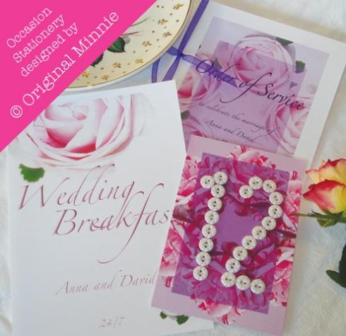Original Minnie Handmade Wedding and Occasion Stationery set