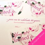Original Minnie © Wedding and Occasion Stationery 2010 - Party Invitation from my Vintage Rose range