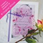 Original Minnie © Wedding and Occasion Stationery 2010 - Order of Service from my Vintage Rose range