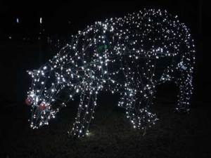 Polar Bear lights at a Winter Wonderland walk © Photo Original Minnie