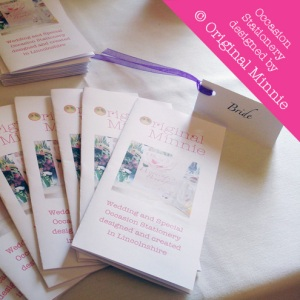 © Original Minnie Wedding and Special Occasion Stationery = place card with ribbon